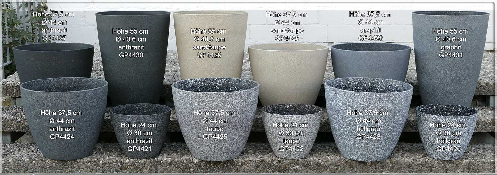 Fabulous Pflanzkübel aus Kunststoff, frostsicher für draußen HV44