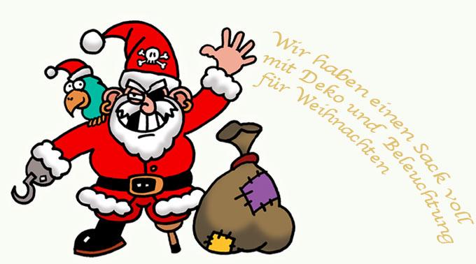 Weihnachtsbleuchtung und Deko von Gartenpirat
