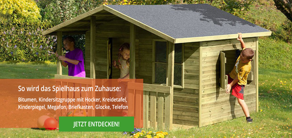 kinderspielhaus holz mit fusboden. Black Bedroom Furniture Sets. Home Design Ideas